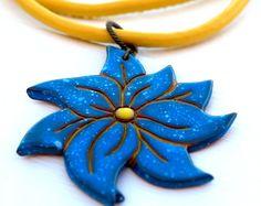 Handmade pottery necklace