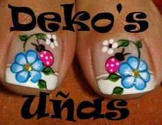 Best Summer Nails Part 5 Pedicure Designs, Pedicure Nail Art, Toe Nail Designs, French Pedicure, Spring Nails, Summer Nails, Nail Picking, Feet Nails, Nail Envy
