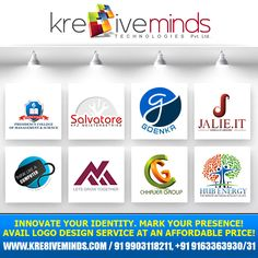 Innovate your identity. Mark your presence! Avail #LogoDesign service at an affordable price! http://www.kre8iveminds.com/