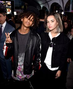 Jaden Smith and Sarah Snyder