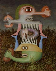 'Totem de la subjectivité blessée II' (1948) by Victor Brauner