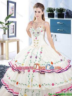 Designer See Through Scoop Organza and Taffeta Quinceanera Dress with Embroidery Xv Dresses, Quince Dresses, Fashion Dresses, Mexican Quinceanera Dresses, Mexican Dresses, Taffeta Dress, Lace Dress, Wedding Dress Patterns, Wedding Dresses