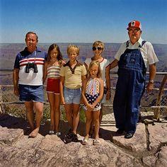 Family with Grandpa at South Rim, Grand Canyon National Park, AZ 1980