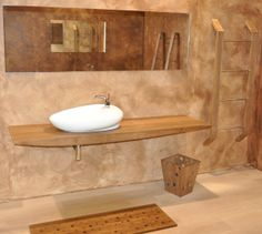 base lavello interamente in teak con porta asciugamani e pedana #itesoricoloniali #bagno #bathroom #teak #reggioemilia #arredamenti #homestaging #legno