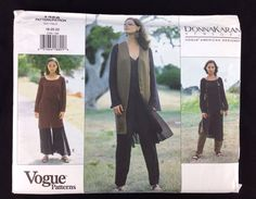 Misses Vest, Tunic and Pants, size 18-20-22. Uncut, factory folded. Outer envelope shows wear, slight tears from handling. | eBay!