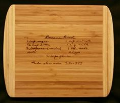 Custom engraved cutting board for Brittain from 3DCarving