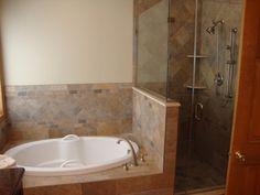 Corner Tub with Shower Ideas | Tub-shower