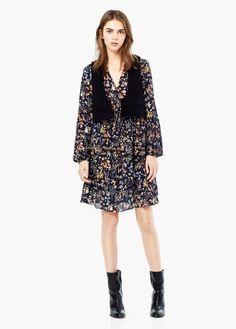 Kleid mit blumendruck | MANGO