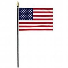 "4"" X 6"" Verona Brand Stick Flags"