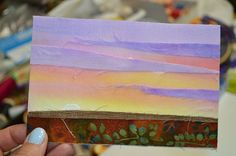 My Sweet Prairie: POST CARDS on Canadian Quilt Talk Radio, how to make fabric post cards.