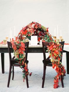 Rich Wood and Vibrant Autumn Leaves | Melanie Nedelko Fine Art Film Photography | Crimson and Gold Fall Foliage Wedding