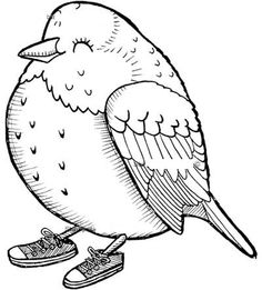 ... Bird Template, Outline Images, Bird Embroidery, Doodle Drawings, To Color, Art Pages, Colouring Pages, Digital Stamps, Quilt Top