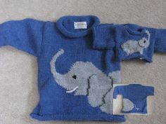 elephant knitting pattern by sandys creations strickanleitungen loveknitting - The world's most private search engine Boys Knitting Patterns Free, Baby Cardigan Knitting Pattern, Christmas Knitting Patterns, Knitting For Kids, Knitting Designs, Baby Patterns, Knitting Projects, Elephant Sweater, Elephant Pattern