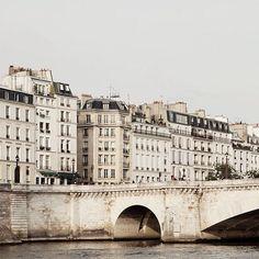 White   Building facades along the Seine   Paris, France