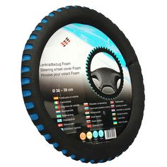 HIgh Quality EVA Universal Car Steering Wheel Cover Diameter 38cm Automotive Sup 3 Colors Soft EVA Steering Wheel Cover