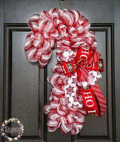 Large Candy Cane Decoration Large Candy Canewreaths And Thingstracey  Wreaths And