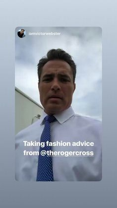Victor Webster, Fashion Advice