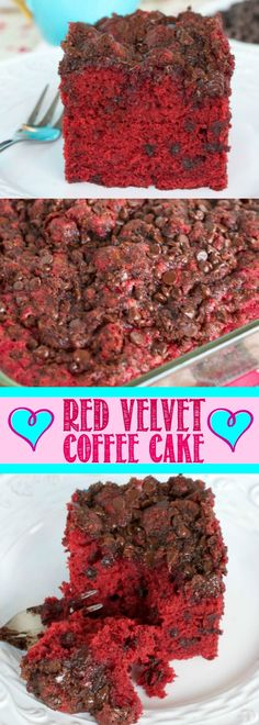 This light and fluffy Red Velvet Coffee Cake is so moist and unbelievably scrumptious! The brown sugar topping adds an irresistible crunch! This is a must make! Great for Valentine's Day!