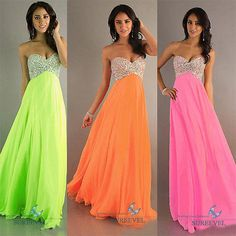 Chiffon Beaded Girl's Long Evening Party Formal Gown Bridesmaid Wedding Dresses
