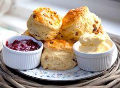 Claridge's scones: Recipes: Good Food Channel Paleo Baking, Baking Flour, Gluten Free Baking, Gluten Free Recipes, Low Carb Recipes, Tea Recipes, Baking Soda, Healthy Recipes, Cream Tea