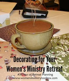 Day 10 – Decorating for Your Women's Ministry Retreat - Tips and ideas from Women's Ministry Toolbox. Womens Ministry Events, Church Ministry, Ministry Ideas, Christian Women's Ministry, Christian Retreat, Mason Jar Flowers, Mason Jars, Prayer Room, Ladies Day