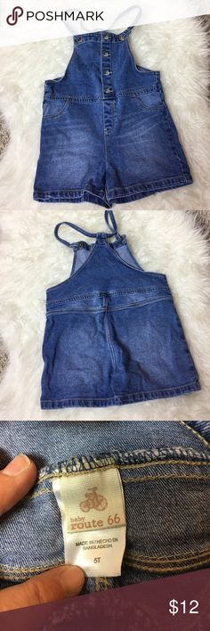 Route 66 Little Girls Short Overalls Route 66 Little Girls Overalls  - Gently used. No rips, tears, or stains. In great condition. | Make me an offer I can't refuse. I ❤️ OFFERS! 25% off kids items when you bundle 2 or more items. BUNDLE & SAVE! Route 66 Bottoms Overalls