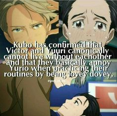 I'm so happy to be alive at this time to experience Victuuri