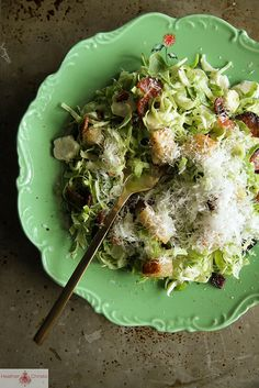 Great update on a classic: Brussels Sprouts Caesar Salad by Heather Christo