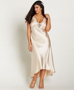 Flora by Flora Nikrooz Plus Size Satin Stella Nightgown  -