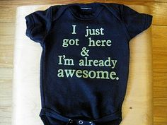 I'm buying one hundred of these and giving them out to everyone with a baby. (Well, everyone with an awesome baby)