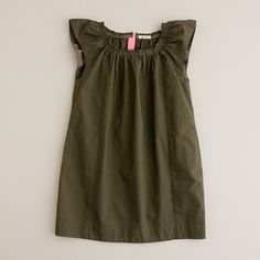 Girls Cotton Crinkle Dress, JCrew, $39.99