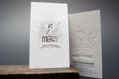 23 Creative Examples of Letterpress Business Cards Design Embossed Business Cards, Letterpress Business Cards, Embossed Cards, Unique Business Cards, Business Card Design, Embossed Logo, Emboss Printing, Stationery Printing, Letterpress Printing