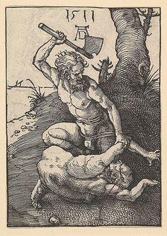 """""""Kain erschlägt Abel"""", 1511, Albrecht Dürer (1471-1528)"""
