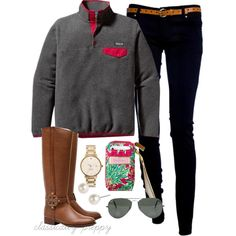 Cute, casual style.  OOTD by classically-preppy on Polyvore