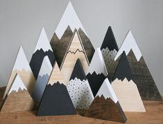 Wooden mountains, mountain decor, nursery decor, rustic wedd… – Holiday and camping ideas Rustic Nursery Decor, Rustic Decor, Rustic Table, Diy Wood Projects, Wood Crafts, Crafts To Sell, Diy And Crafts, Mountain Decor, Mountain Crafts