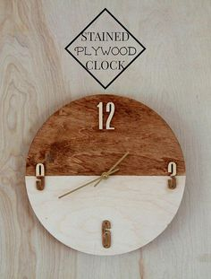 wall clock decor living room 777433954413842105 - DIY Clocks – Stained Plywood Clock – Easy and Cheap Home Decor Ideas and Crafts for Wall Clock – Cool Bedroom and Living Room Decor, Farmhouse and Modern Source by woodworkhm Diy Clock, Clock Decor, Diy Wall Decor, Clock Ideas, Room Decor, Cool Diy, Plywood Walls, Plywood Furniture, Furniture Design