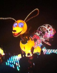 Slinky, from Toy Story, in the Paint the Night parade at Disneyland.