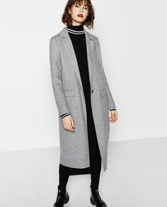 Image 2 of LONG COAT from Zara