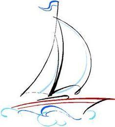 Resultado de imagem para desenhos de veleiros preto e branco