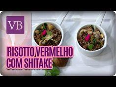 Risoto de arroz vermelho com shitake grelhado — Receitas