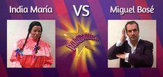 14 de Julio - July 14 La India María se enfrenta a Miguel Bosé  http://www.youtube.com/watch?v=yNYtPg131_k