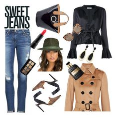 """Sweet Jeans"" by alexiawalder ❤ liked on Polyvore featuring Monse, Frances Valentine, AG Adriano Goldschmied, Tome, Burberry, Fallenbrokenstreet, Effy Jewelry, MAC Cosmetics, Max Factor and Valentino"
