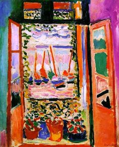 Open Window, Collioure by Henri Matisse is among the very first fauve works. It was painted during the summer of when Matisse, together with André Derain, worked in the small Mediterranean fishing port of Collioure, near the Spanish border. Henri Matisse, Matisse Art, Matisse Prints, National Gallery Of Art, Art Gallery, National Art, Matisse Paintings, Paintings Famous, Modern Paintings