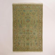 One of my favorite discoveries at WorldMarket.com: Hand-Knotted Wool Kira Area Rug