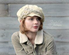 Hand Felted Wool Newsboy Hat #falloutfits #winterhat #wool