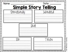 Just Wild About Teaching: Simple Story Telling-{somebody wanted but so then}