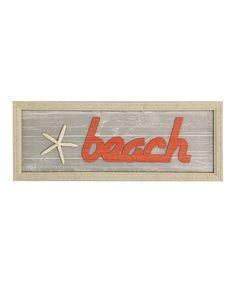 Look at this #zulilyfind! Dimensional 'Beach' Wall Sign #zulilyfinds