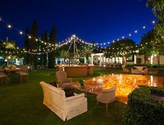 Create a Canopy of light for an outdoor wedding!