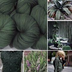 "Inspiration for ""Herb Garden"" colorway by Spirit Trail Fiberworks"