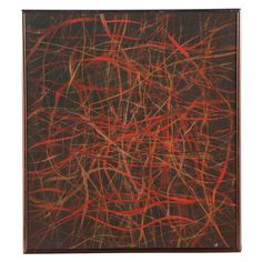 W. Glen Davis 1972 Abstract Oil Painting ede699268